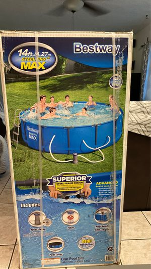BESTWAY 14ft x 42in ABOVE GROUND SWIMMING POOL for Sale in Hollywood, FL