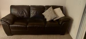 Faux leather couch for Sale in San Jose, CA