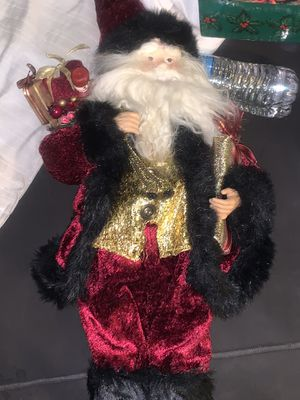 Santa Clause Soft but firm Styrofoam Statue wearing very soft Velvet clothing, Nice! for Sale in Phoenix, AZ