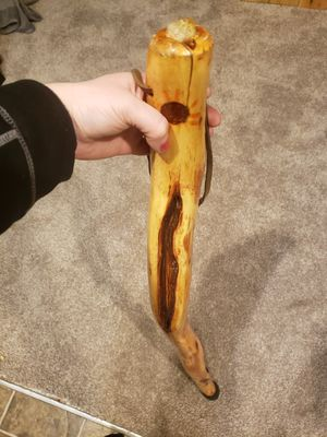 48'' Tall Thin Walking Staff Inlaid Agate, Long Diamond Willow Wood for Sale in Federal Way, WA