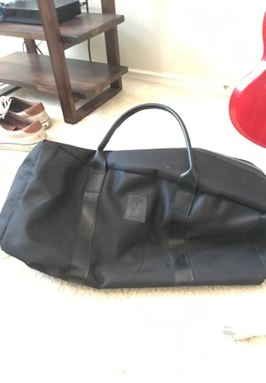Black Duffle Bag Leather Strap for Sale in Austin, TX