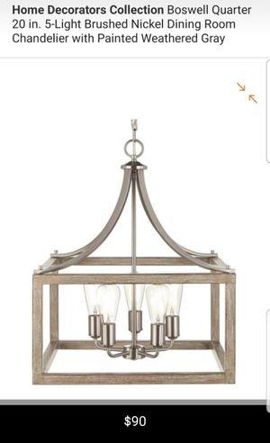 5 light brushed nickel chandelier for Sale in Bakersfield, CA
