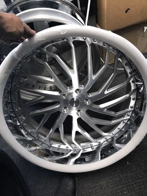 """New 24"""" Savini wheels. Rims. Tires. Staggered offset 5x120 5x4.75 bolt pattern for Sale in Cicero, IL"""
