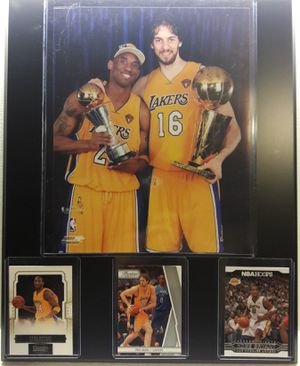 Kobe Bryant and gasol plaque for Sale in Bell Gardens, CA