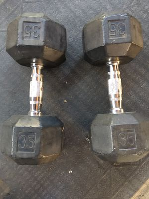 Dumbbells 35 lbs for Sale in Bell Gardens, CA