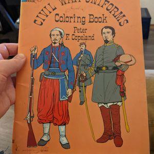 Vintage Civil War Uniforms Coloring Book for Sale in Fond du Lac, WI