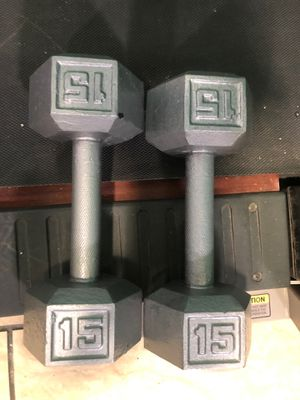 Dumbbell 15lbs each for 60 dollars for Sale in Oakland, CA