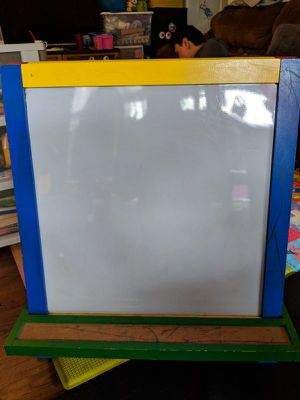Children's Double-Sided Drawing Board Easel Blackboard Scaffolding Wooden and Plastic Drawing Board for Sale in Los Angeles, CA
