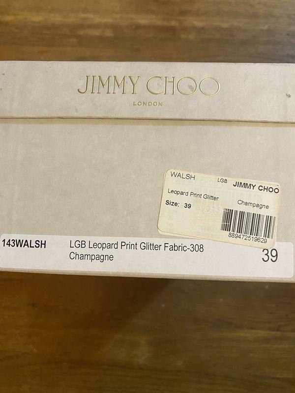 Leopard Print Glitter Jimmy Choo size 39
