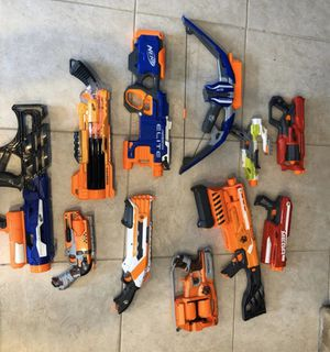 Large NERF Collection - 18 Guns / Blasters for Sale in Frankfort, IL