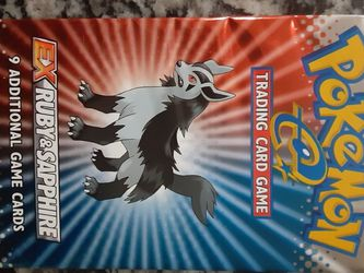 Pokemon EX Ruby &Sapphire Booster Pack Mightyena Art Box Fresh NEW for Sale in Land O' Lakes,  FL