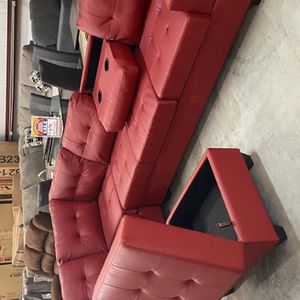 Same day delivery 🚛 (39 down payment) sectional With Ottoman /couch/living room set for Sale in Houston, TX