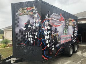 Trailer 7x16 and 10 ft tall title in hand private seller Obo!!!!!!!!!!!!!! for Sale in Miami, FL