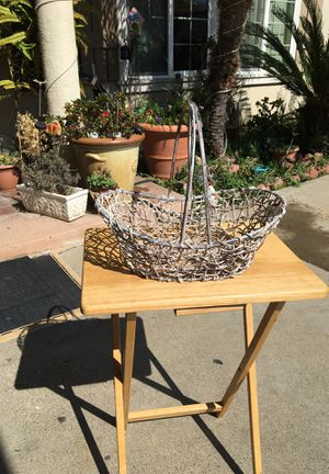 Metal frame basket for Sale in Santa Ana, CA