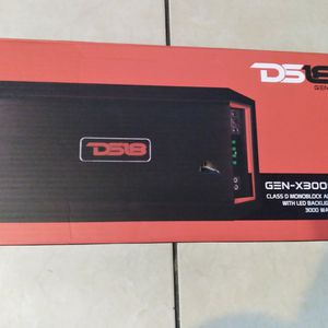 Ds18 GENX 3000.1watts Class D Monoblock Amplifier 1 Channel 3000watts Max for Sale in Hollywood, FL