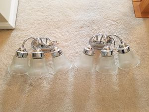 Two, 3 Light Vanity Fixtures for Sale in Fairfax, VA