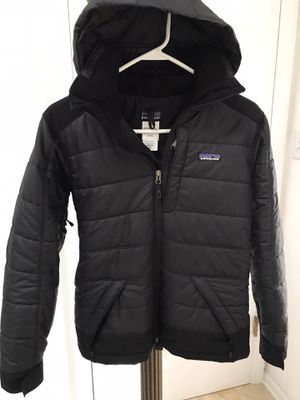 PATAGONIA Women's XS Girls L XL Hooded Black Puff Jacket Winter Coat for Sale in New Berlin, WI