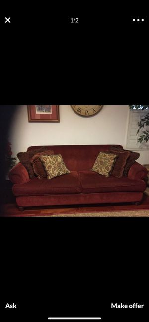 Red couch for Sale in Hayward, CA