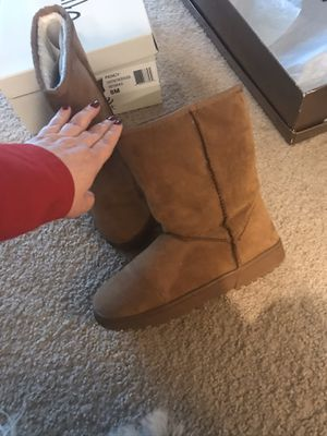 Olive Street Women's Pency Faux Fur Lined Mid Calf Boots Chestnut - Size:8 for Sale in Alexandria, VA