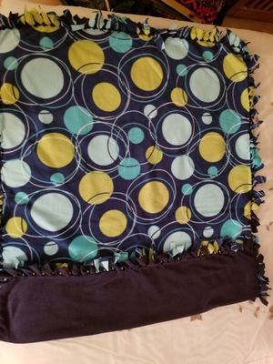 Blue/Green Circles Blanket for Sale in Rockville, MD