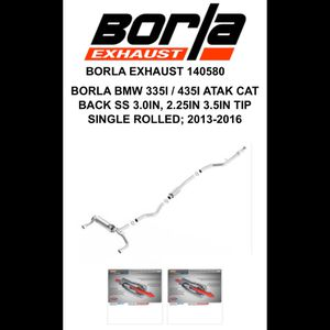 Borla Atak Cat Back Exhaust for Sale in San Diego, CA