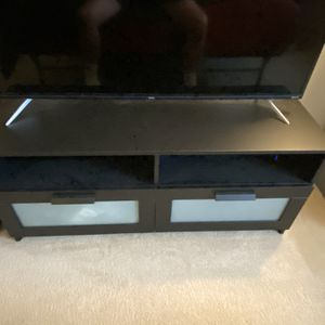 IKEA TV Stand with Frosted Glass Drawer Doors for Sale in Beaverton, OR