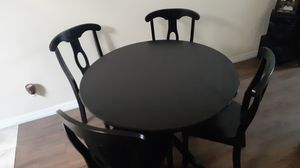 Black wood round table for Sale in Apopka, FL
