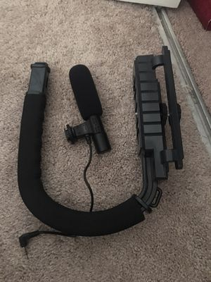 DSLR camera holder and microphone for Sale in Rancho Cordova, CA