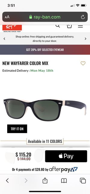 Ray-Ban New Warfarer Sunglasses for Sale in San Diego, CA