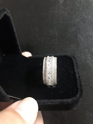 925 sterling silver band ring cz size 9 for Sale in Philadelphia, PA