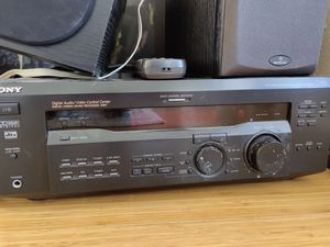 Sony receiver with center channel and bookshelf speakers. for Sale in Seattle, WA
