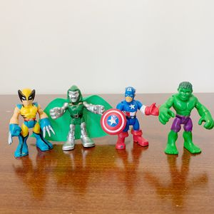 Fisher-Price Imaginext Marvel Loy of 4 Action Figurines for Sale in Alexandria, VA