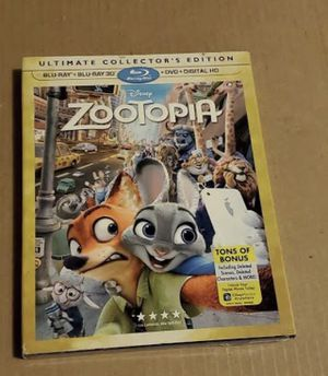 bluray disney zootopia 3d blu ray brand new for Sale in Los Angeles, CA
