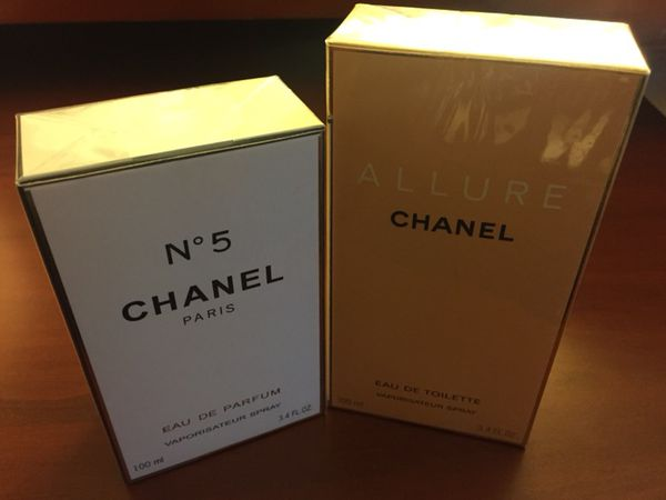 Womans Designer Perfume Chanel#5 & Chanel Allure