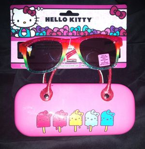 Girls Hello Kitty Sunglasses with Case. for Sale in Brooklyn, NY