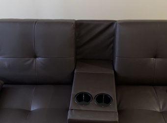 Leather Futon Couch for Sale in Atlanta,  GA