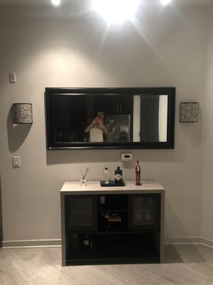 Black and Cement Console Table for Sale in Los Angeles, CA