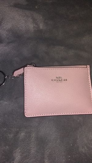 Coach Leather Pink Wristlet for Sale in Modesto, CA