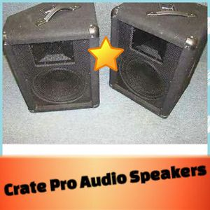 Crate Pro Audio Speakers Great! for Sale in Baton Rouge, LA