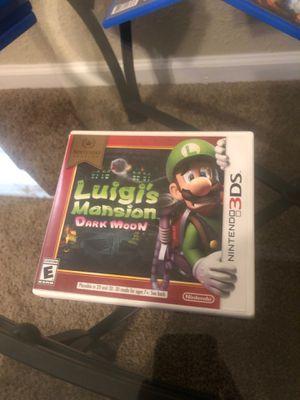 Luigis Mansion Dark Moon 3DS for Sale in Detroit, MI