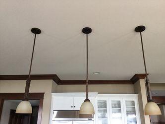 3 mission pendant Kitchen lights light fixture for Sale in Belfair,  WA