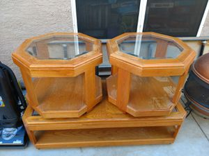 Coffee table and 2 end tables for Sale in Glendale, AZ