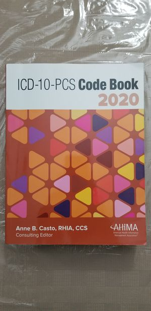 ICD 10 PCS 2020 ANNE B. AHIMA for Sale in Meriden, CT