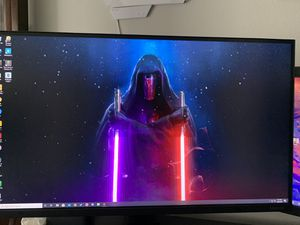 24 inch Samsung monitor with desk mount for Sale in Everett, WA