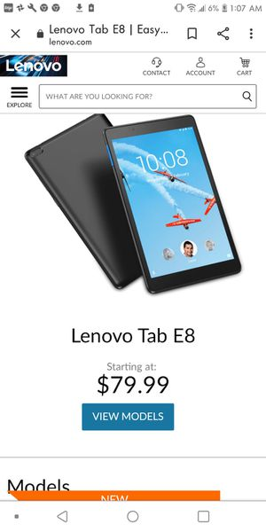 Lenovo Tablet for Sale in Van Buren, AR