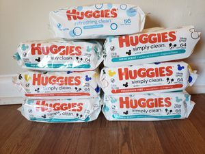 Huggies Wipes 56-64 ct for Sale in Tampa, FL