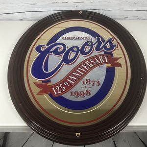 """Original Coors beer mirror sign large oval 29 x 23"""" for Sale in Los Angeles, CA"""