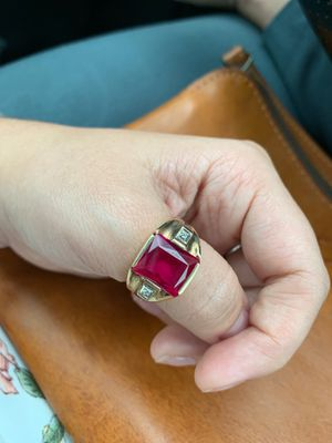 Men's or woman's 10k Ruby/Diamond Ring for Sale in Peachtree Corners, GA