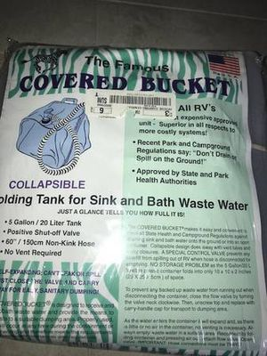New Covered Bucket 5 Gall Sink Bath Collapsible holding tank for Sale in Mountlake Terrace, WA