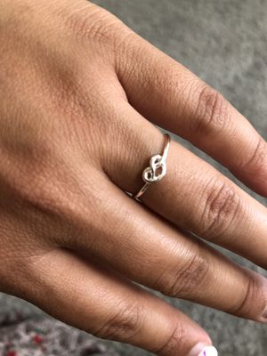 Dainty Heart Silver Plated Ring for Sale in San Diego, CA